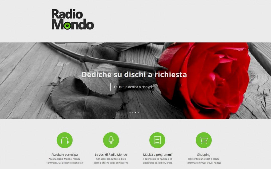 Il sito Web di Radio Mondo