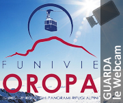 "Funivie Oropa Biella - Banner ""Guarda la Webcam"""
